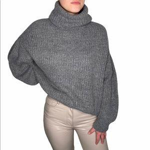 Slouchy Wool Turtleneck Sweater